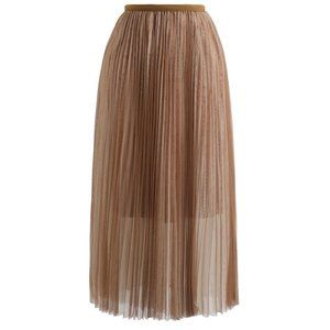 ♥️ Double-Layered Mesh Tulle Pleated Skirt